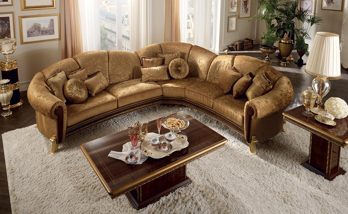 arredoclassic giotto salotto divano angolare tavolino