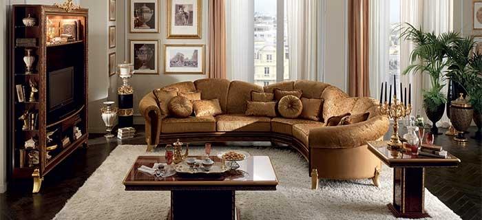 arredoclassic giotto salotto divano angolare con mobile tv