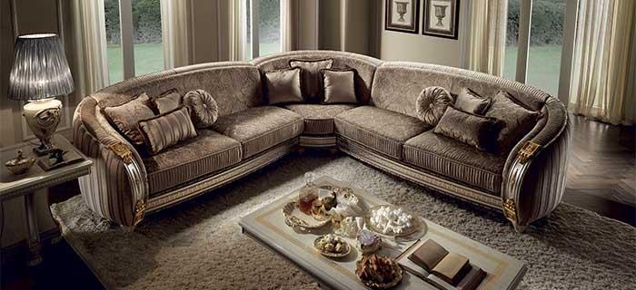 arredoclassic liberty salotto divano angolare completo